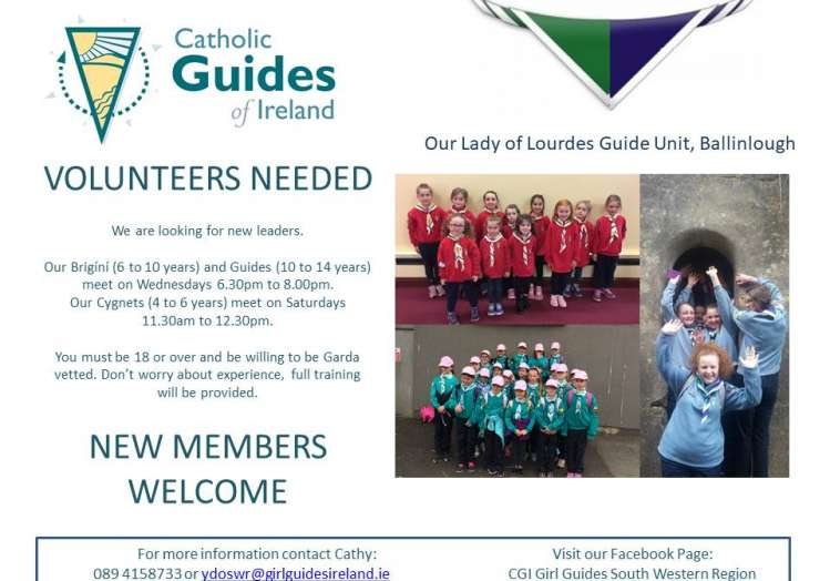 Guiders needed in Ballinlough