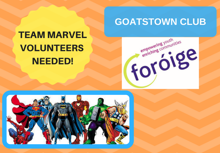 Avengers Assemble!  for Team Marvel Midnight Strikers  (ASD) Foróige  Goatstown