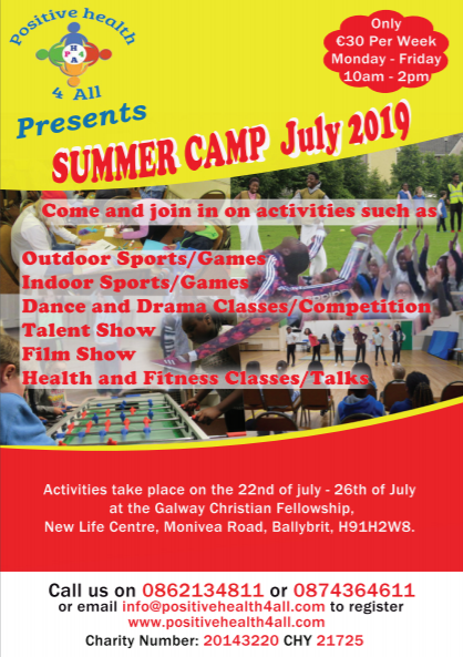 SUMMER CAMP 2019 ASSISTANT